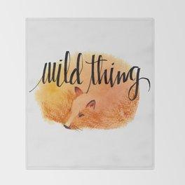 sleeping fox - wild thing Throw Blanket