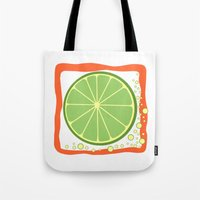 coasters Tote Bags featuring LIME by Tanya Pligina