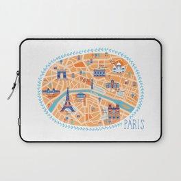 Paris Map Laptop Sleeve
