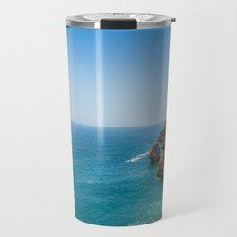 Beach at Lagoa, Algarve, Portugal Travel Mug