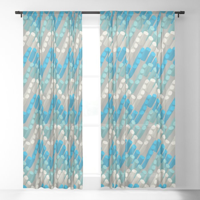 3D Dotted Wave Sheer Curtain
