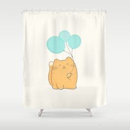 gil, the cat Shower Curtain