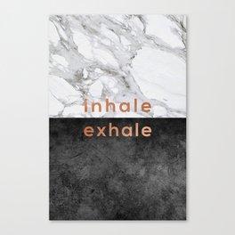 Inhale Exhale Copper Canvas Print