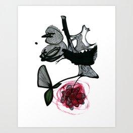 Weird nest Art Print