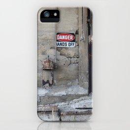 Hands Off iPhone Case