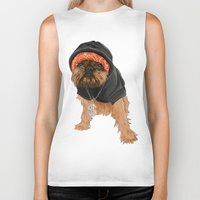 gangster Biker Tanks featuring Gangster Digby by Michele Nicolette