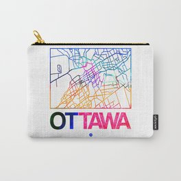 Ottawa Watercolor Street Map Carry-All Pouch