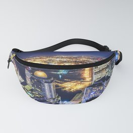 Voyeuristic 1719 Vancouver Cityscape Space Craft - Waterfront Convention Center Gastown BC Canada Fanny Pack