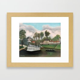 The Laundry Boat of Pont de Charenton, Henri Rousseau Framed Art Print