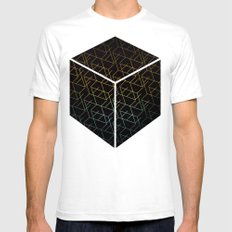 Cube Me SMALL Mens Fitted Tee White