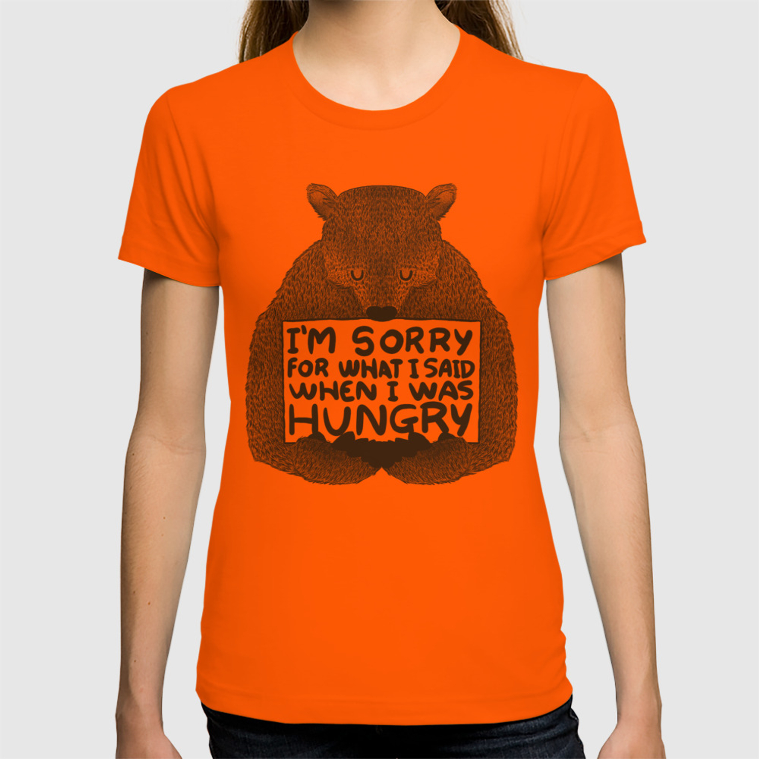 948ddb987 I'm Sorry For What I Said When I Was Hungry T-shirt by tobefonseca |  Society6
