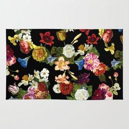 Flowery (black version) Rug