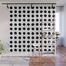 Black & White Dots Wall Mural
