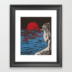 Melting World Framed Art Print
