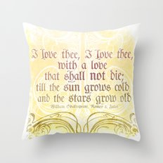 I love thee, I love thee - ROMEO & JULIET - SHAKESPEARE LOVE QUOTE Throw Pillow
