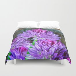 Chive Heads Duvet Cover