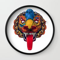 mythology Wall Clocks featuring Artificial Mythology by Diligence