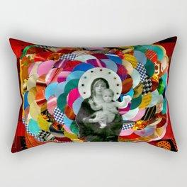 Maria (mãe de Jesus) Mary (mother of Jesus) #1 Rectangular Pillow