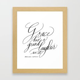 Marilynne Robinson on Grace (Calligraphy) Framed Art Print