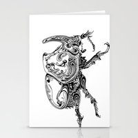 beetle Stationery Cards featuring Beetle by Conor McAllister