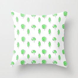 little tress Throw Pillow