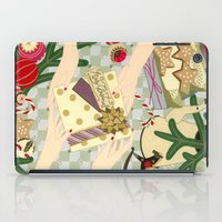 gift card iPad Cases featuring Merry Christmas gift by Yuliya
