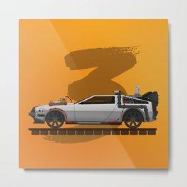 Back to the Future DeLorean 3 - alt Metal Print