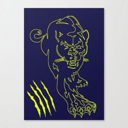 puma scratch Canvas Print