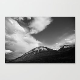 Landscape Minimalist Photography Waterton | Black and White | black-and-white | bw Canvas Print