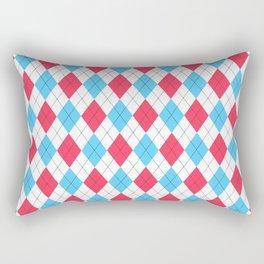 Red, White & Blue: Argyle Pattern Rectangular Pillow