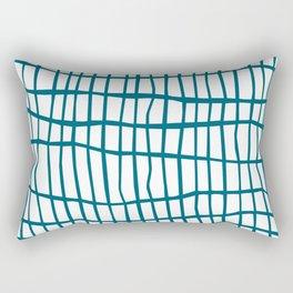 Net Blue on White Rectangular Pillow