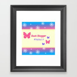 Book Blogger Framed Art Print