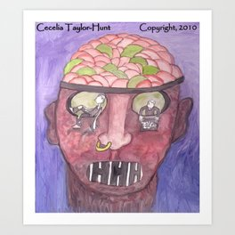 What Causes Major Depression? Art Print