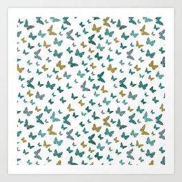 butterflies_yellow Art Print
