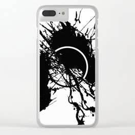 Form Out Of Chaos - Black and white conceptual abstract Clear iPhone Case