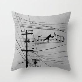 High Notes Throw Pillow