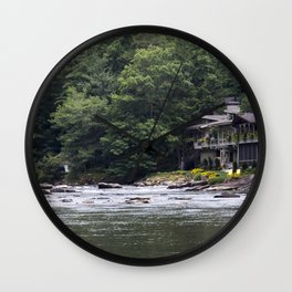 Calming the River Large Print Wall Clock
