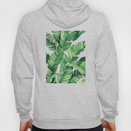 Tropical banana leaves V Hoody