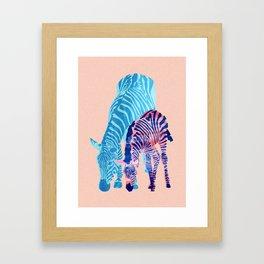 Striped Love Framed Art Print