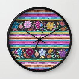 Peruvian Blanket Wall Clock