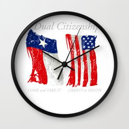 Dual Citizen Texas American Pride design for Texans graphic Wall Clock