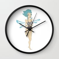 fairy Wall Clocks featuring Fairy  by LydiaSchüttengruber