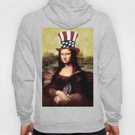 Patriotic Mona Lisa Hoody