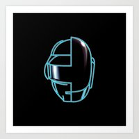daft punk Art Prints featuring Daft Punk by Jason Michael
