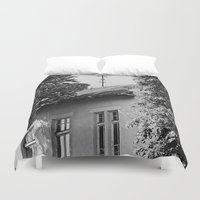window Duvet Covers featuring Window by Margheritta