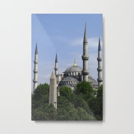 Blue Mosque - Sultan Ahmed Mosque in Istanbul, Turkey Metal Print