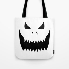 Scary Jack O'Lantern Face Tote Bag