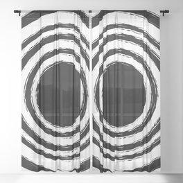 Painted Circles Sheer Curtain