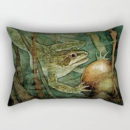 """""""The Frog Prince and the Golden Ball"""" by Edmund Dulac Rectangular Pillow"""