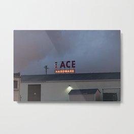 Neon Ace Metal Print